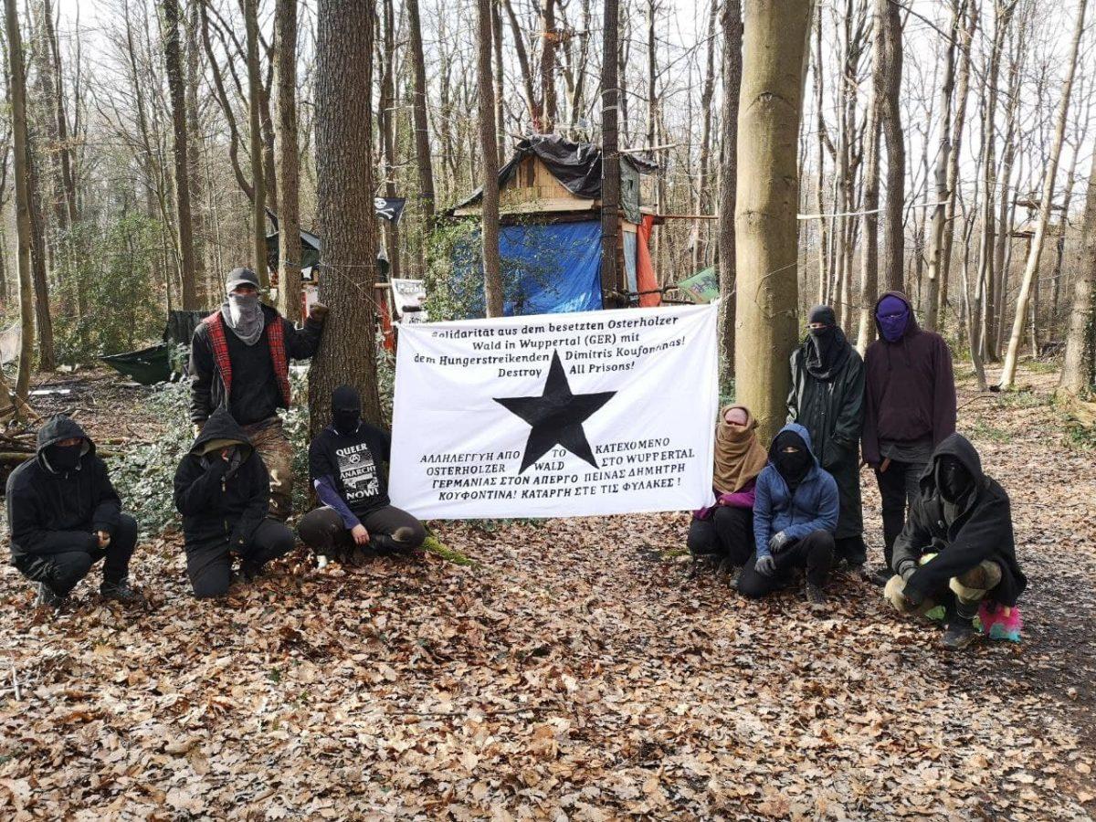 Solidarität aus dem besetzten Osterholz in Wuppertal mit dem Hungerstreikenden Dimitris Koufontinas!  Abschaffung aller Gefängnisse!